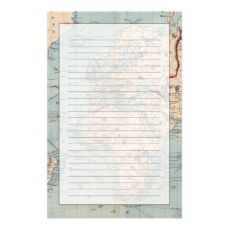 Map of the world on Mercator's projection Personalized Stationery