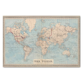 Map of the world on Mercator's projection Tissue Paper