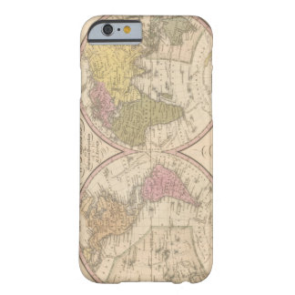 Map Of The World on the Globular Projection 2 iPhone 6 Case
