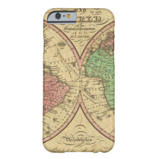 Map Of The World on the Globular Projection iPhone 6 Case
