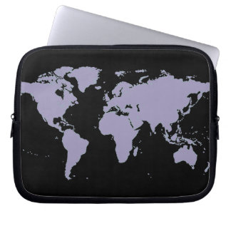 map of the world, planispheres laptop sleeve