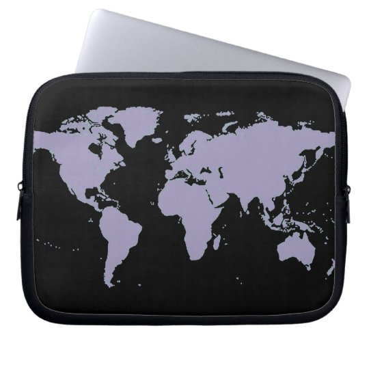 map of the world, planispheres laptop sleeve
