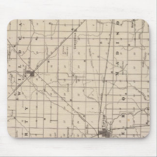 Map of Tipton County Mouse Pad