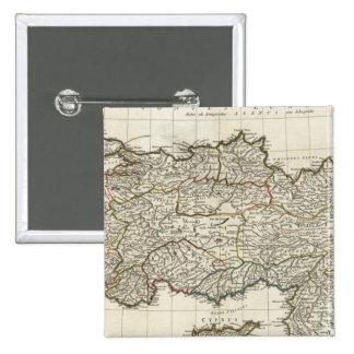 Map of Turkey 15 Cm Square Badge