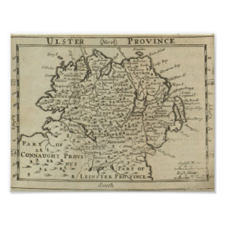 Map of Ulster Poster