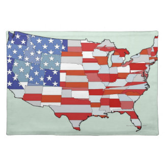 Map of United States of America Place Mats