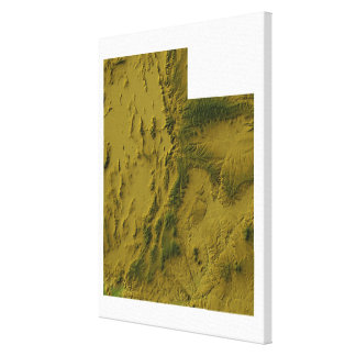 Map of Utah Stretched Canvas Prints