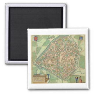 Map of Valencia, from 'Civitates Orbis Terrarum' b Magnet