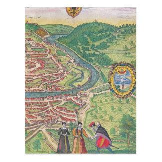 Map of Vienna Postcard