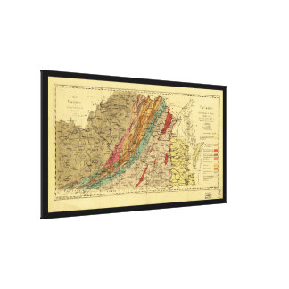 Map of Virginia by Jedediah Hotchkiss (1874) Gallery Wrap Canvas