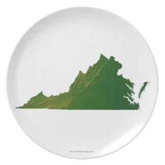 Map of Virginia Plate