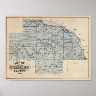 Map of Wabasha County, Minnesota Poster