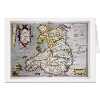 Map of Wales, published c.1630 (hand-coloured engr Card