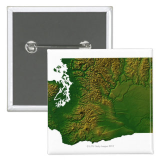 Map of Washington 3 15 Cm Square Badge