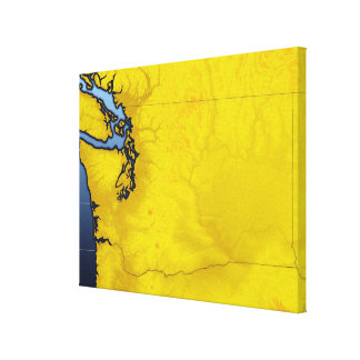 Map of Washington 3 Gallery Wrapped Canvas