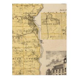 Map of Washington County, Minnesota Postcard