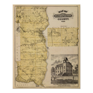 Map of Washington County, Minnesota Poster