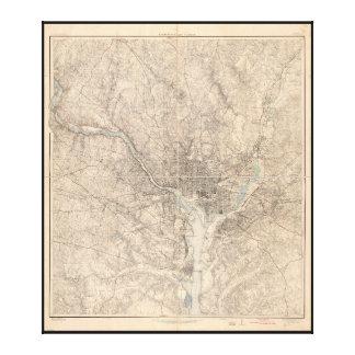 Map of Washington D.C. (1926) Canvas Print