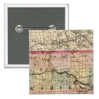 Map of Washtenaw County, Michigan 15 Cm Square Badge