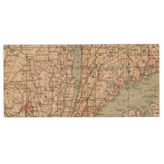 Map of Westchester County, New York Wood USB 2.0 Flash Drive