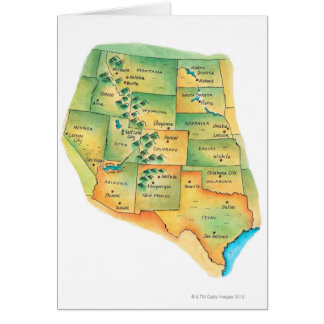 Map of Western United States Cards