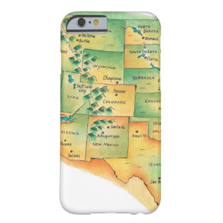 Map of Western United States iPhone 6 Case
