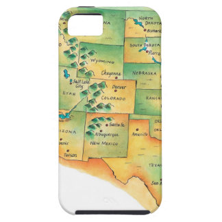 Map of Western United States iPhone 5 Cover