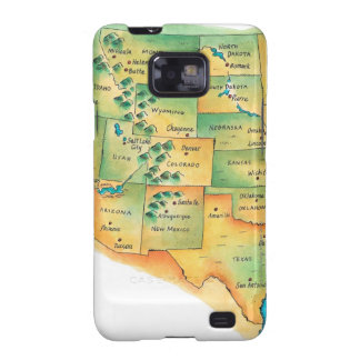 Map of Western United States Samsung Galaxy SII Case