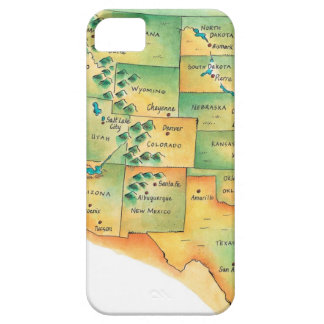 Map of Western United States Case For The iPhone 5
