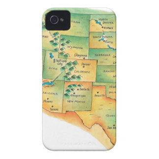 Map of Western United States iPhone 4 Cover