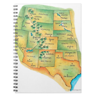 Map of Western United States Notebooks