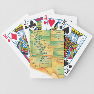 Map of Western United States Poker Cards