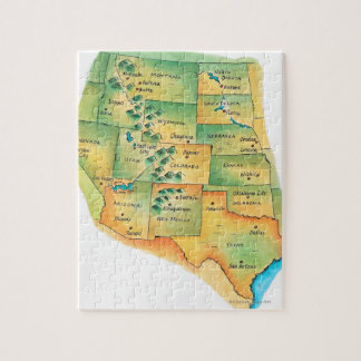 Map of Western United States Puzzle