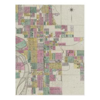 Map of Wichita, Kansas Postcard
