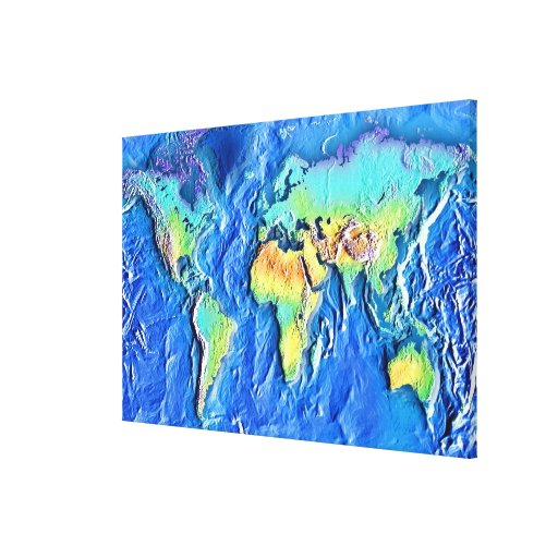 Map of world canvas print