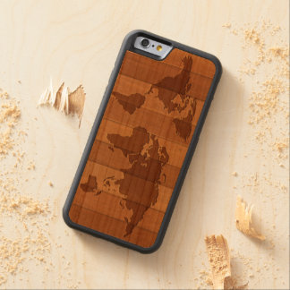 Map of World Carved ® iPhone 6 Bumper Wood Case