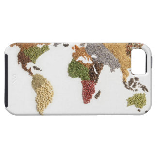 Map of world made of various seeds iPhone 5 cover