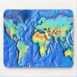 Map of world mouse mats