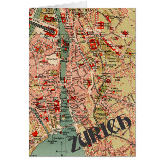 Map of Zurich Card