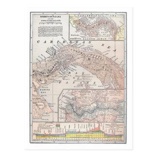 MAP: PANAMA, 1907 POSTCARD