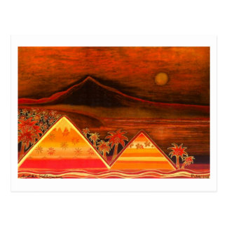 """Map Pastell kind """"Paradise Iceland with Pyramids """" Postcard"""