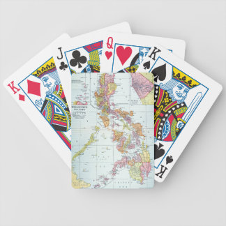 MAP: PHILIPPINES, 1905 BICYCLE PLAYING CARDS