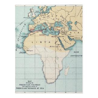 MAP: PHOENICIAN EMPIRE POSTCARD