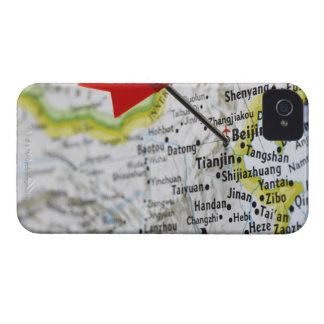 Map pin placed in Beijing, China on map, Case-Mate iPhone 4 Case