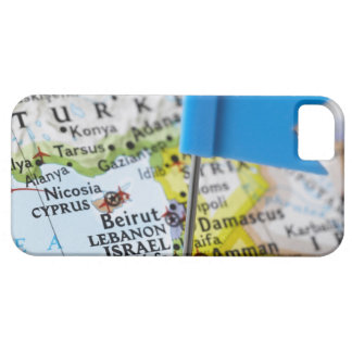Map pin placed in Jerusalem, Israel on map, iPhone 5 Cases