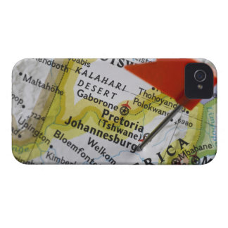 Map pin placed in Johannesburg, South Africa on Case-Mate iPhone 4 Cases