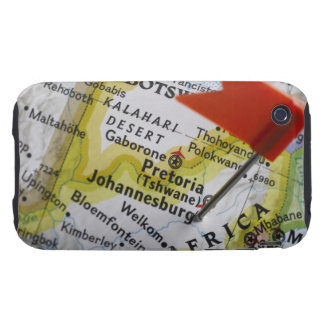 Map pin placed in Johannesburg, South Africa on Tough iPhone 3 Covers