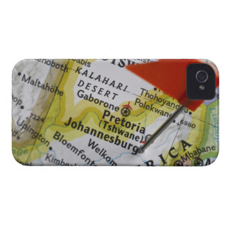 Map pin placed in Johannesburg, South Africa on iPhone 4 Cases