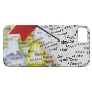 Map pin placed in Moscow, Russia on map, Case For The iPhone 5