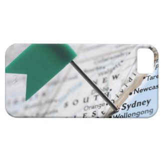 Map pin placed in Sydney, Australia on map, iPhone 5 Covers